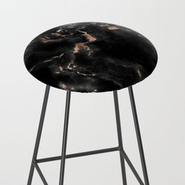 Rose Gold and Black Marble Bar Stool