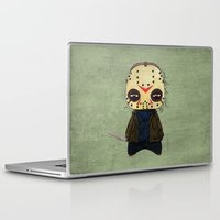 actor Laptop & iPad Skins featuring  A Boy - Jason ( Friday the 13th) by Christophe Chiozzi