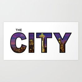 The City - Version 7 Art Print