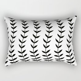 Minimal Black & White Leaves #1 #minimal #decor #art #society6 Rectangular Pillow