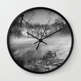 In The Blizzard Wall Clock
