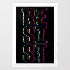 System Glitch Art Print