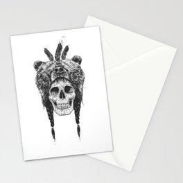 Dead shaman (b&w) Stationery Cards