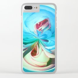 312 - Abstract Flower Orb Design Clear iPhone Case