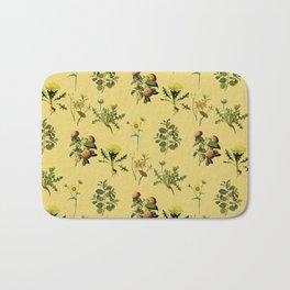Wild Forest & Field Yellow Flower Herb Pattern Bath Mat