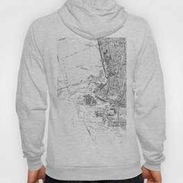 Vintage Map of Oakland California (1959) BW Hoody