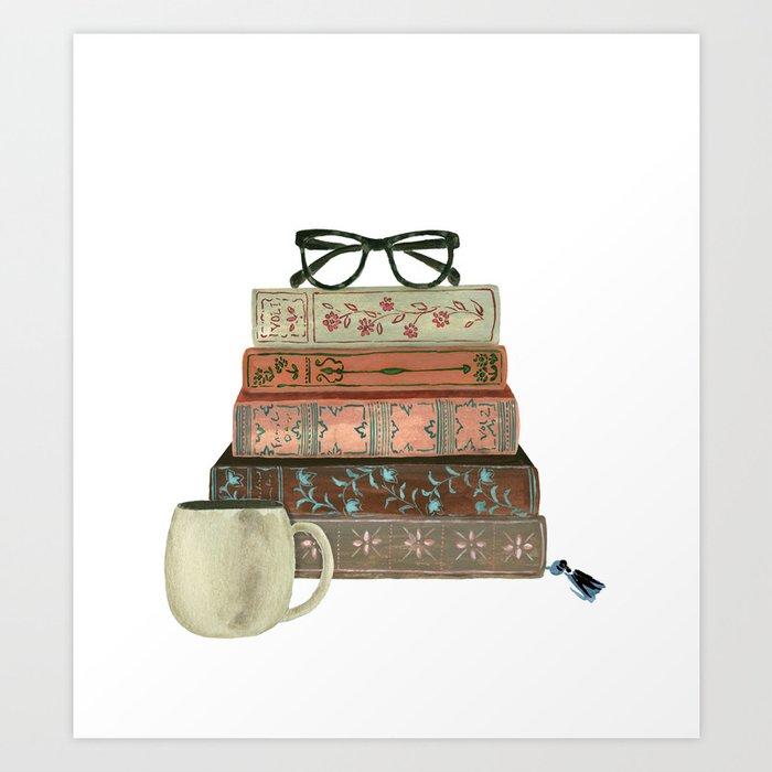 Books & Coffee by Lindsay Brackeen Art Print