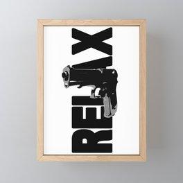 RELAX. Framed Mini Art Print