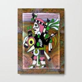 Inca Folk Art Fractal Manipulation Metal Print