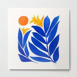 Community Garden / Mid Century Abtract Metal Print