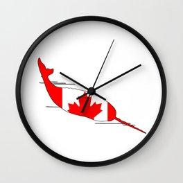 "Narwhal ""Canada"" Wall Clock"