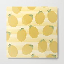 Yellow Lemons Metal Print