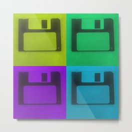 Floppy Disk Pop Art Number 2 Metal Print