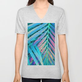 Rainbow Palms Unisex V-Neck