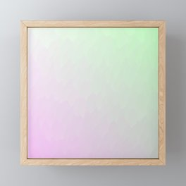 Pink to light green textured ombre flames Framed Mini Art Print