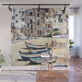 Italian Fishing Village Wall Mural