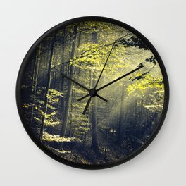 Being There - Morning Light in Forest Wall Clock
