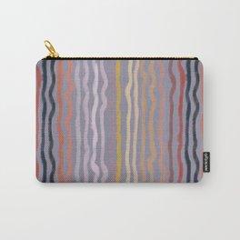 Autumn Warm Twirly Streamer Stripes Carry-All Pouch