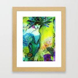 FeatherHeadress Framed Art Print