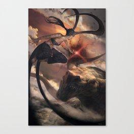 Dragon fight Canvas Print