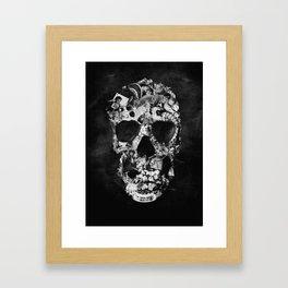 Vintage Skull BW Framed Art Print