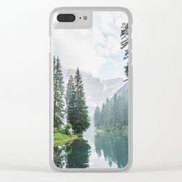 Forest Reflection in Italy Clear iPhone Case