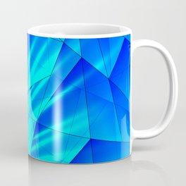 Bright sunshine on celestial and blue triangles of irregular shape. Coffee Mug