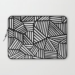 Black Brushstrokes Laptop Sleeve