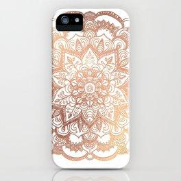 Mandala Rose-Gold Shine iPhone Case