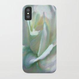 Painterly Iridescent Rose iPhone Case