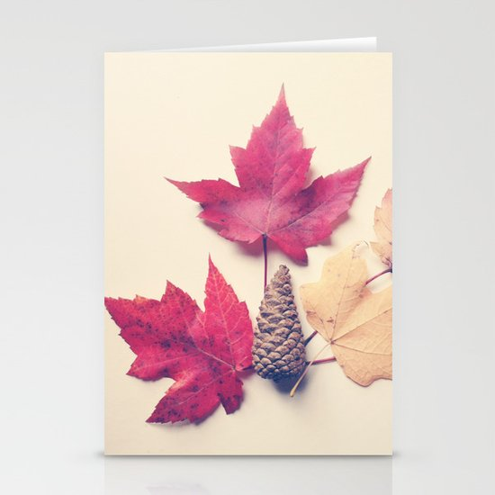 Red Maple Leaf Collection Stationery Cards
