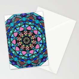 Round ornament in ethnic style Stationery Cards