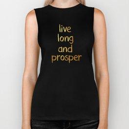 Live long and prosper Biker Tank
