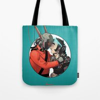 yaoi Tote Bags featuring Comic Cover by kami dog