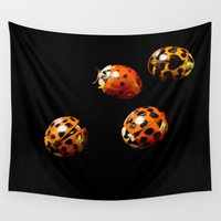 ladybug Wall Tapestries featuring Ladybug by Tats Paris