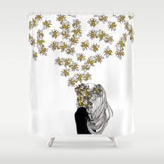 The Arrival of the Bee Box Shower Curtain
