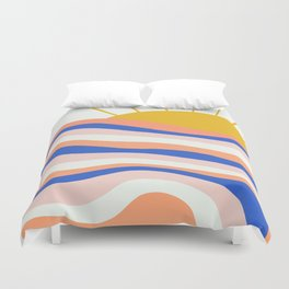 sunrise surf Duvet Cover