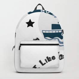 I Like Big Boats And I Cannot Lie Boating Funny Backpack