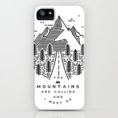 The mountains are calling and I must go- Nordic Slim Case iPhone SE