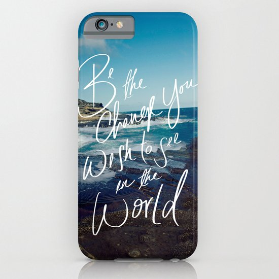 Be the Change iPhone & iPod Case