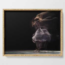 Fine Art Photography - Abstract ballet Serving Tray