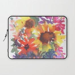 Rainy Day Sunflowers Laptop Sleeve