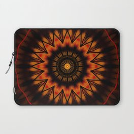 Marigold Red Mandala design Laptop Sleeve