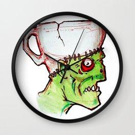 coffee zombie notext Wall Clock