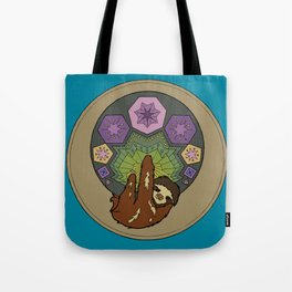 a sloth and his polygons Tote Bag