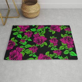 ROSES ROSES PINK AND GREEN Rug