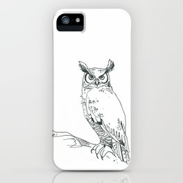 Perched Horned Owl iPhone Case