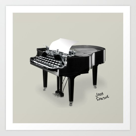 Piano/Typewriter Art Print