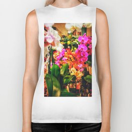 Orchids in the Market Biker Tank