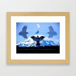 Raven Sky Mountain Framed Art Print